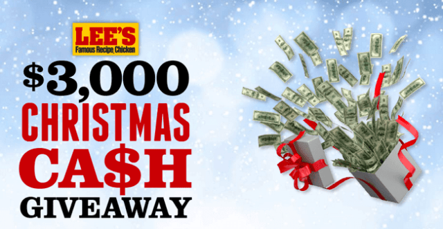 Win $3000 Lee's Christmas Cash Giveaway 2017