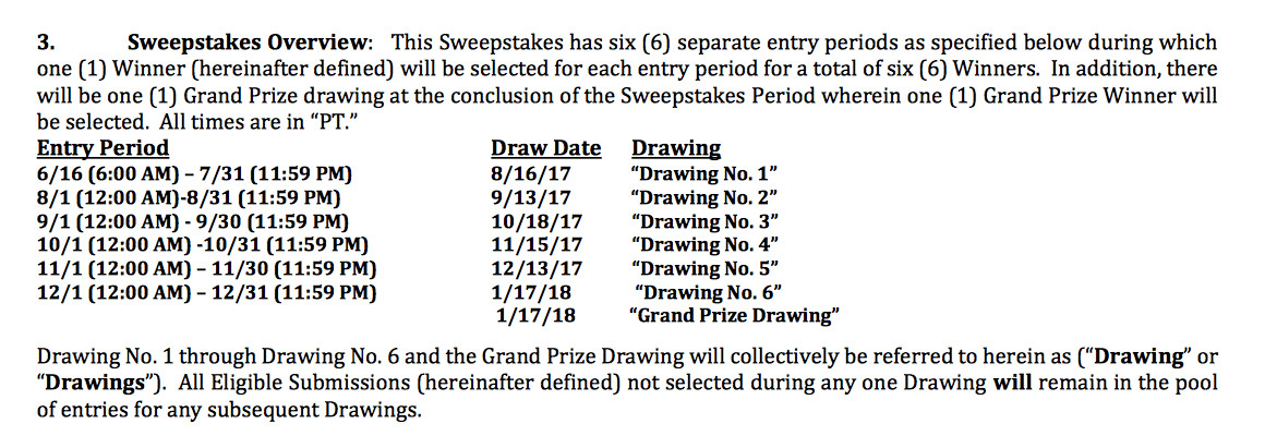 2017 UPS Store Sweepstakes