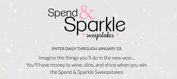 Win $5,000 Spend & Sparkle Sweepstakes