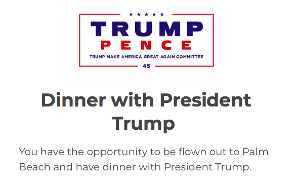 Dinner with President Trump in Florida Sweepstakes