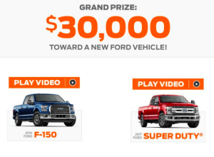 Enter to Win $30,000 Voucher in Ford Event Sweepstakes
