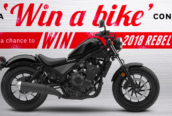 Enter to Win a 2018 Honda Rebel 500 Motorcycle in Honda Win a Bike Contest