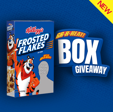 Kellogg's Family Rewards Frosted Flakes Personalized Box Giveaway Sweepstakes
