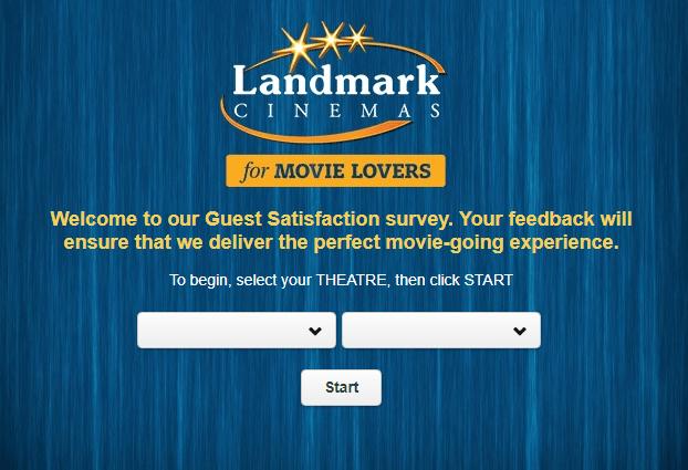 Enter Landmark Cinemas $100 Guest Survey Sweepstakes