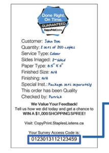 Copyprint.stapleslistens.ca survey