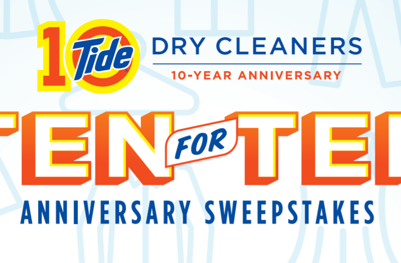 TideDryCleaners.com Ten for Ten Anniversary Sweepstakes