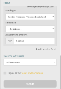 mutual fund add fund option 4