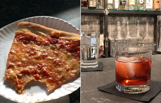 drinks and pizza
