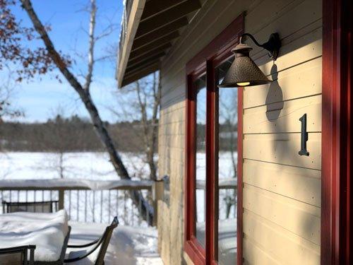 february winter cabin getaway