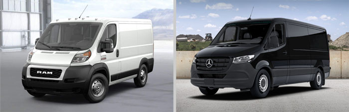 Dodge Ram Promaster and Mercedes Benz Sprinter