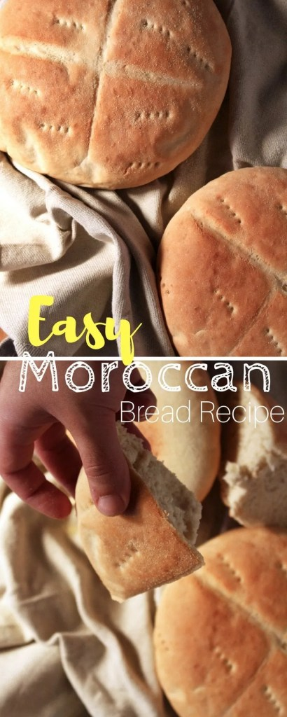 Easy Moroccan Bread Recipe - If you are a true bread lover, then you need to get this in your system. It's fluffy, light and a great pairing with any sauce or stew.