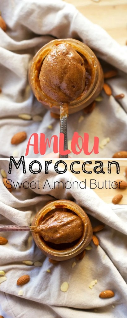 Moroccan Almond Butter with Argan Oil and Raw Honey. Easy, simple and quick recipe for a maximum flavour.