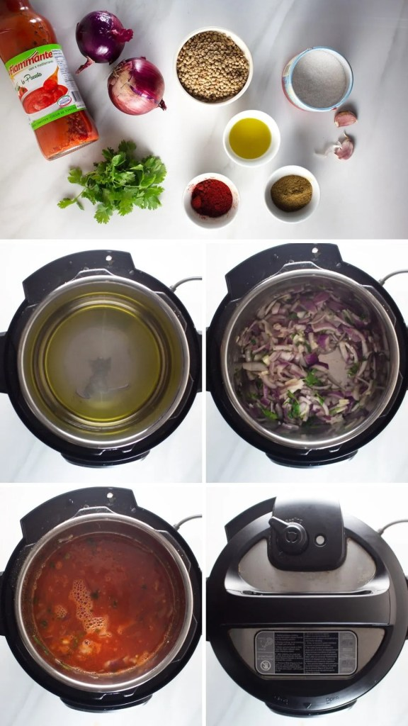 Moroccan Lentil Soup step by step photo