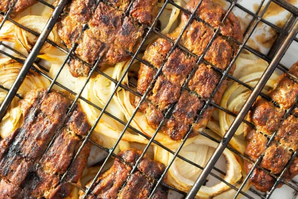 Moroccan Grilled Kafta with onions