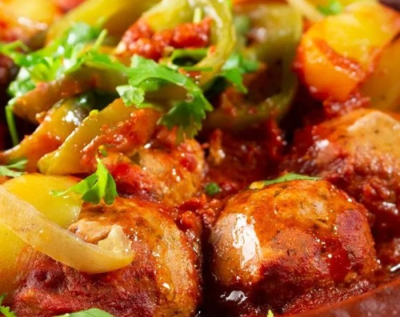 Salmon Tagine with vegetables and lemon