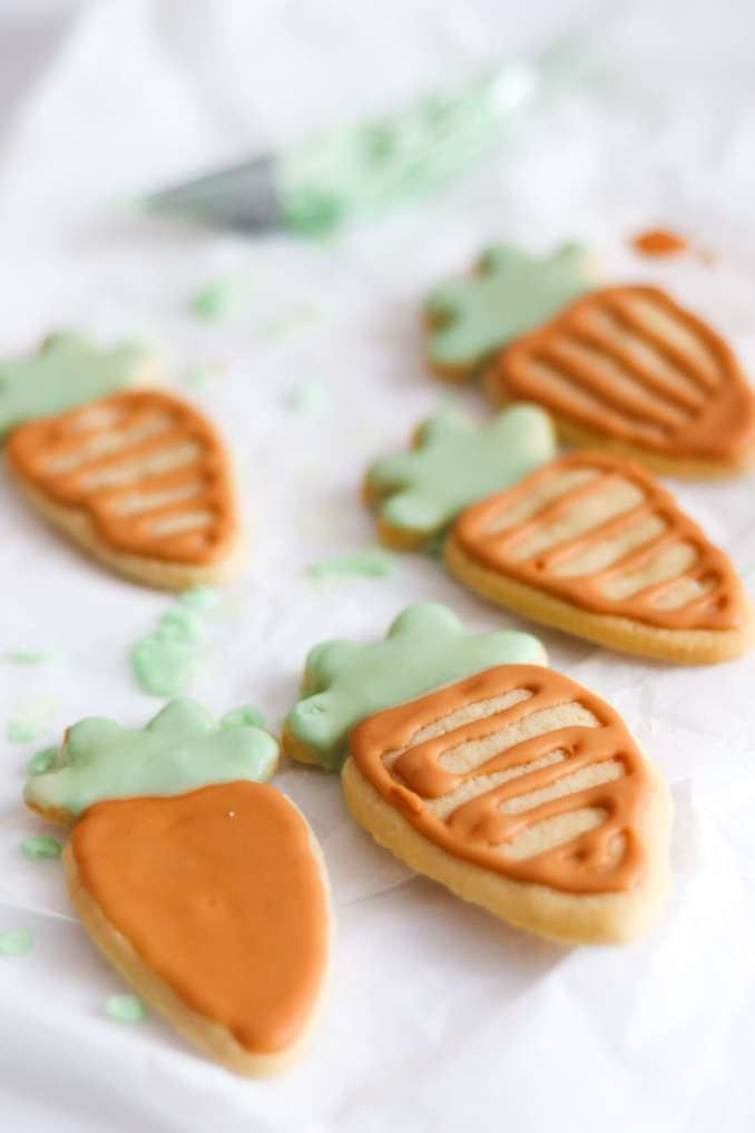 Carrot icing sugar cookies