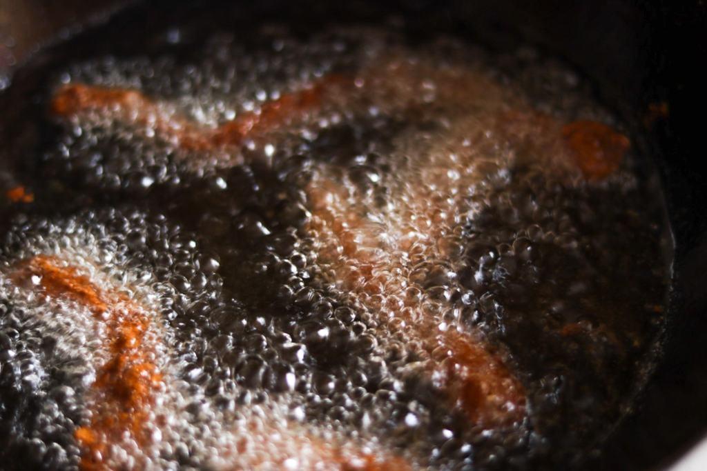 deep frying crispy beef