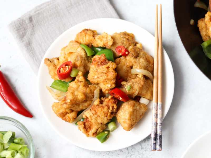 How to make Chinese salt and chilli chicken recipe