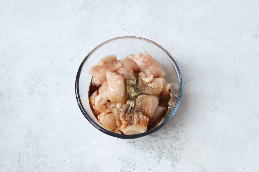 Salt and chilli chicken marinade