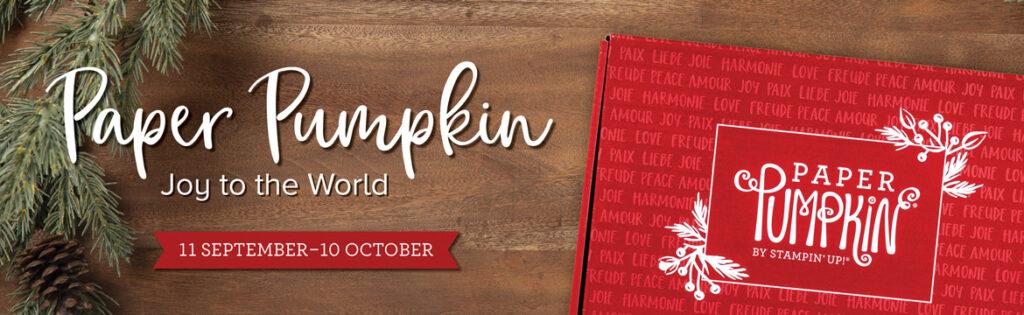 Paper Pumpkin Joy to the World October 2020