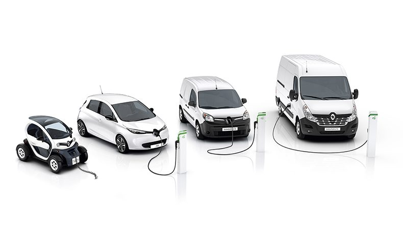 Renault Pro+ ; Renault Z.E. ; Twizy, Zoe, Kangoo Z.E & Master Z.E