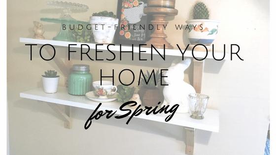 budget friendly spring decor