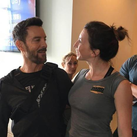 Tony Horton.. and me telling him that he's my favorite ;)
