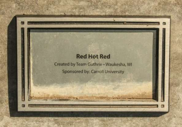 Red Hot Red plaque