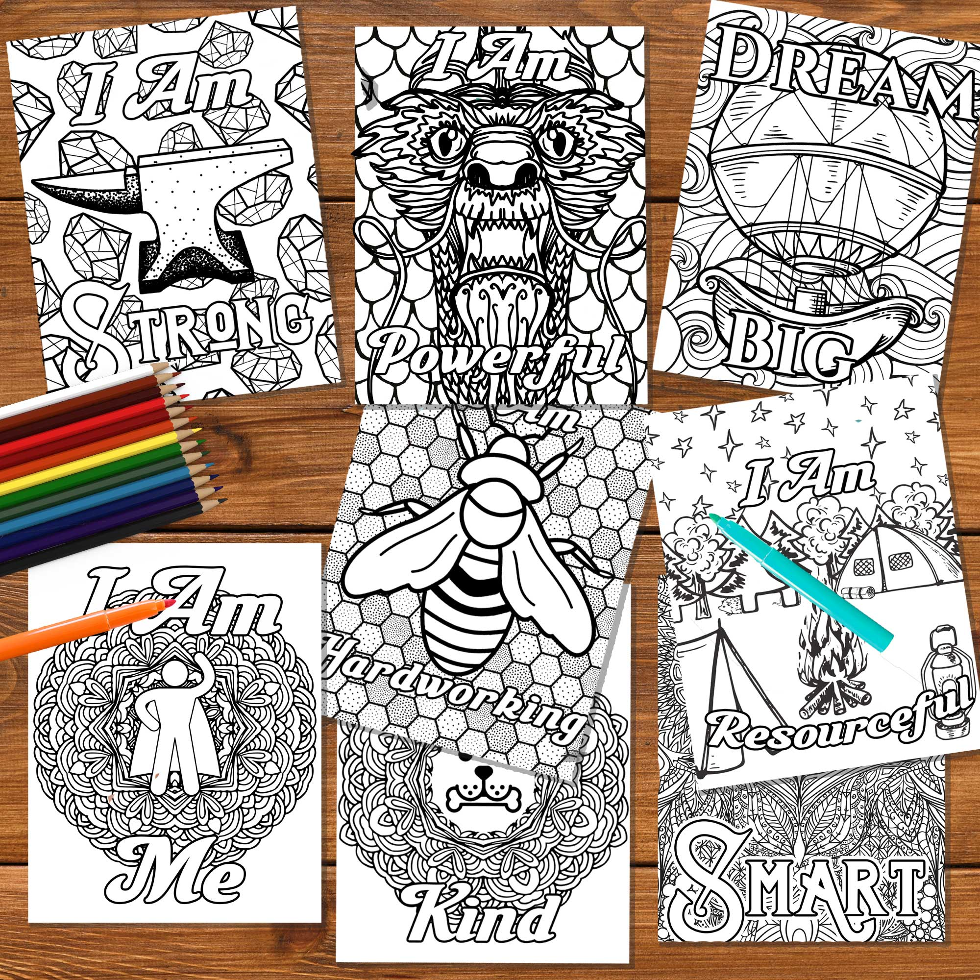 Growth Mindset Coloring Pages Positive Affirmation