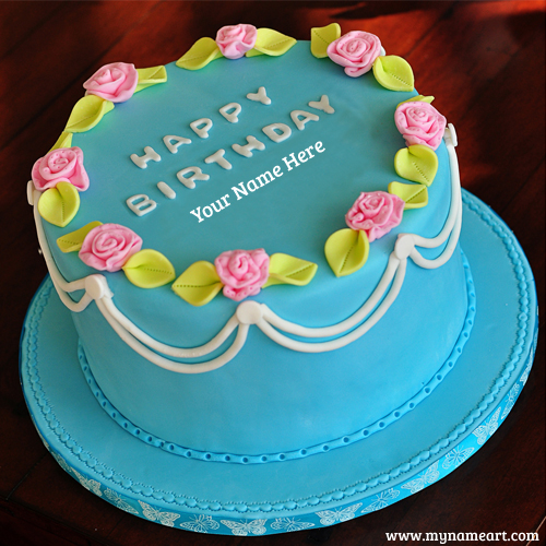 Cake Shape Birthday Cake Image With Name Pictures Wishes