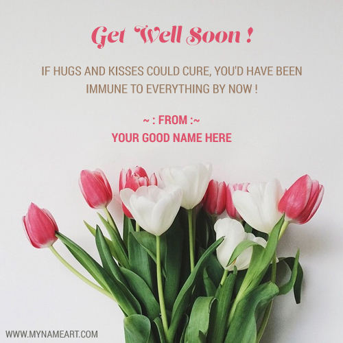 Get Well Soon E Greetings Quotes Card With Name Wishes