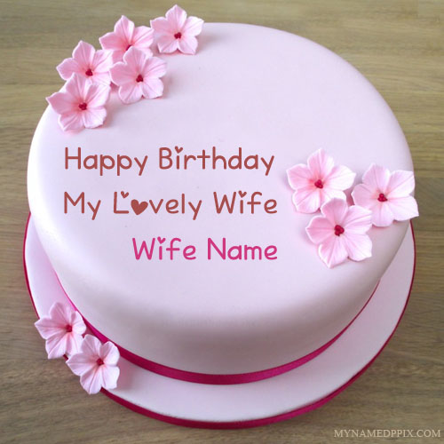 Specially Wife Name Wishes Birthday Cake Pictures My