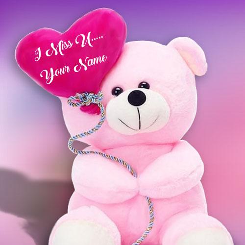 Beautiful Miss U Teddy Lover Name Profile Image Free