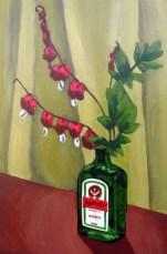"Bleeding Hearts, Jun. 2010, acrylic on masonite, 12"" x 18"""