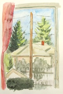 View, Sept. 20, 2011, watercolour on paper