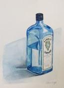 Well, hello again Mr. Gin!, Nov. 27, 2011 watercolour on paper