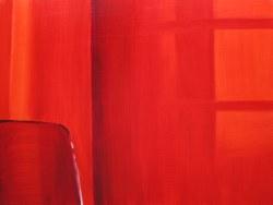 Curtains with Sun, Mar. 14 2013, oil on panel 24 x 32