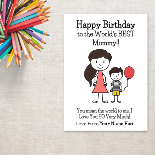 Name Birthday Card For Mom From Son