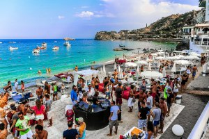 Beach Party in Taormina, Sicily