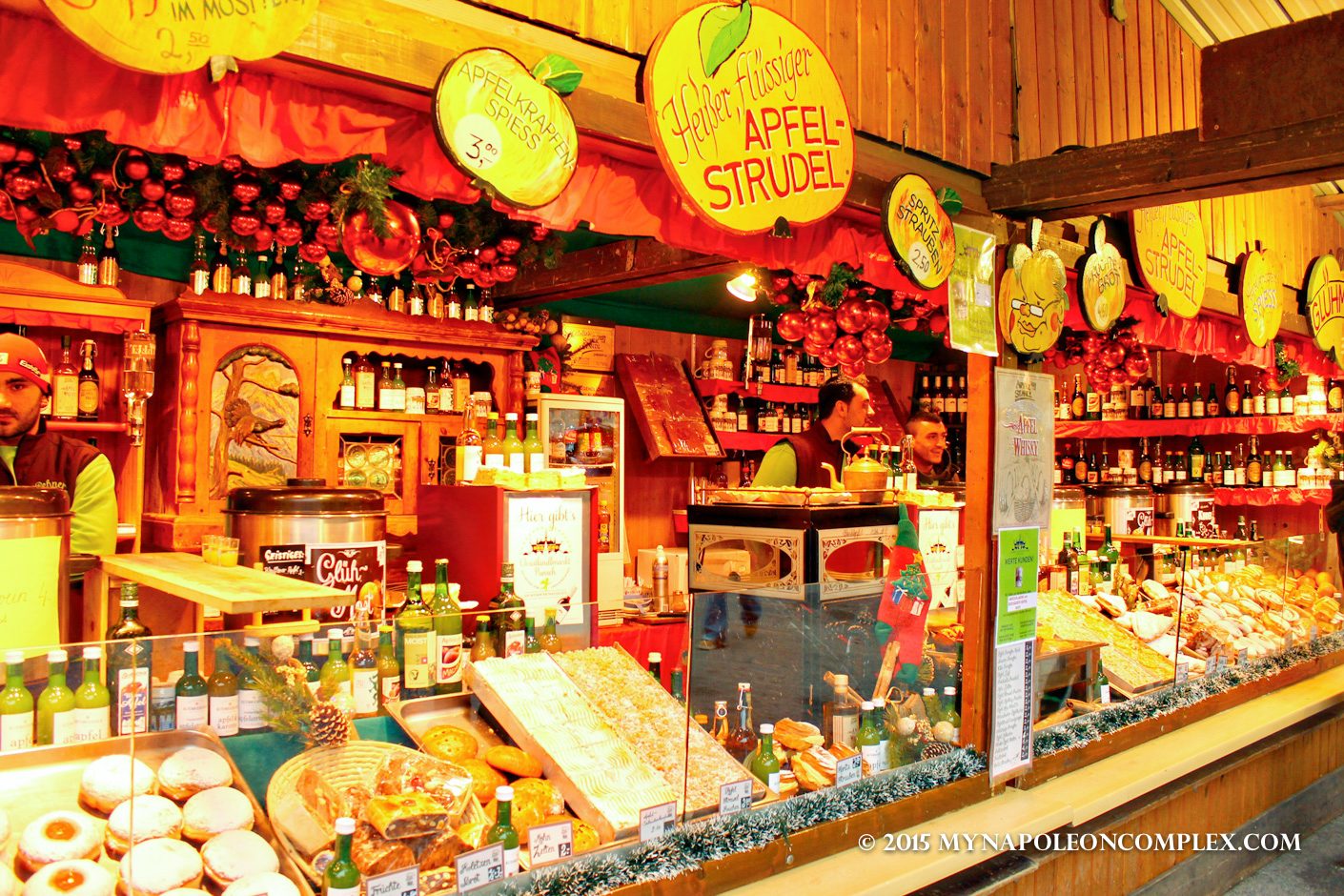 picture of food stand in rathaus christmas market vienna - Vienna Christmas Market