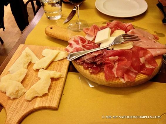 Picture of cold cuts in Ferrara.