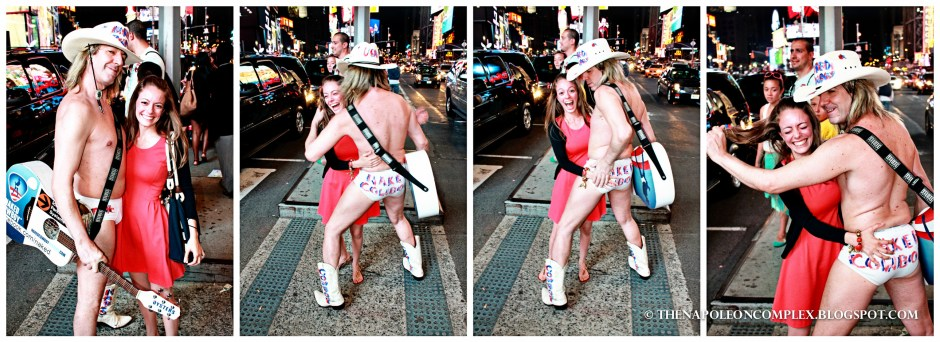 Picture with Naked Cowboy, Times Square, NYC