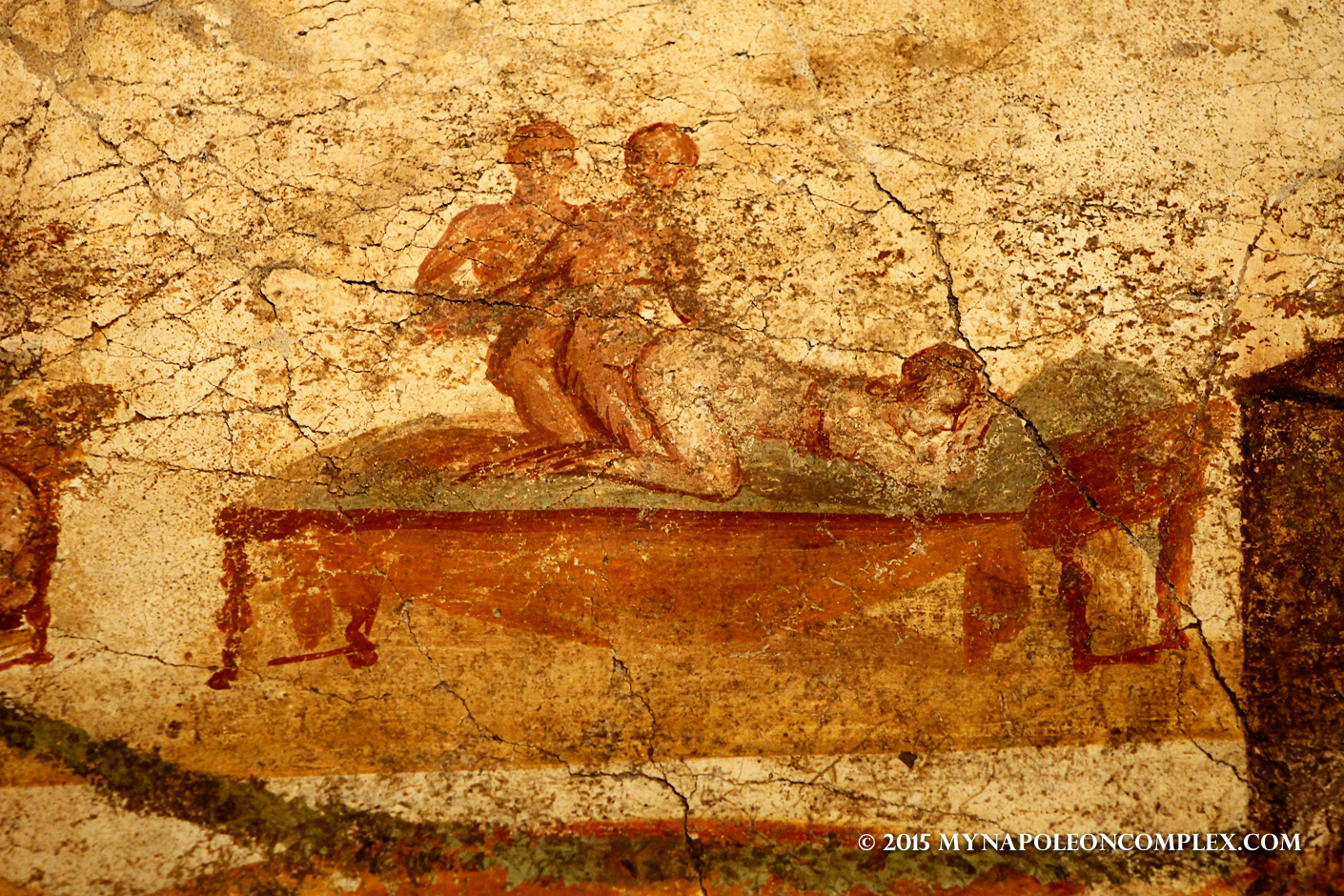 Pompei ruins erotic art