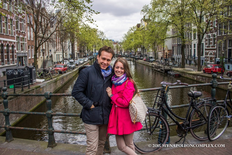 Picture in front of Amsterdam canal