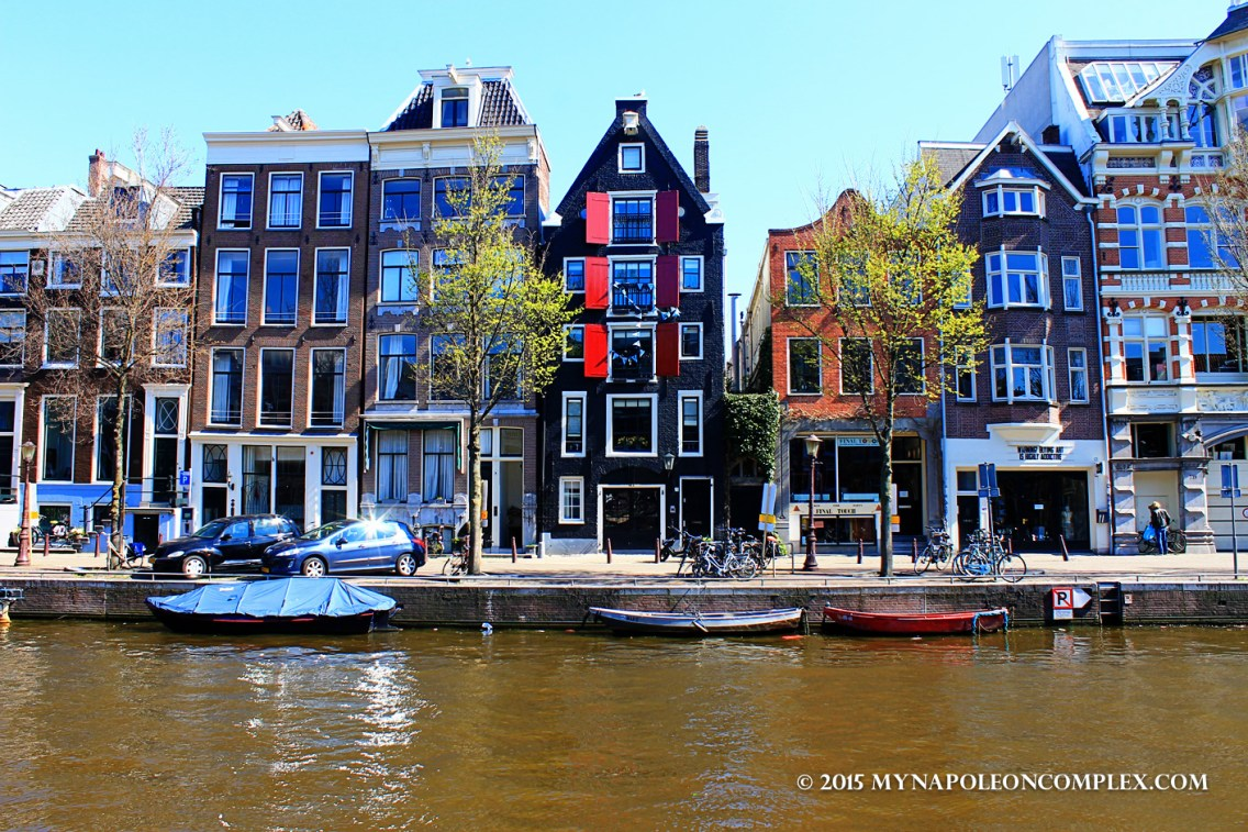 Picture of Amsterdam canal houses.