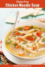 Crock Pot Gluten-Free Chicken Noodle Soup Recipe {Clean Eating, Dairy-Free}