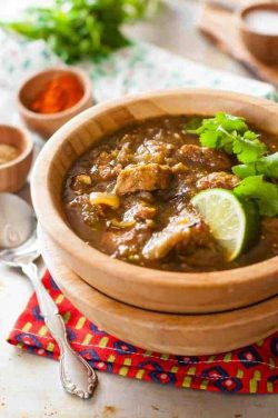 Crock Pot Pork Chile Verde Recipe {Paleo, Clean Eating, Gluten Free, Dairy Free, Whole30}