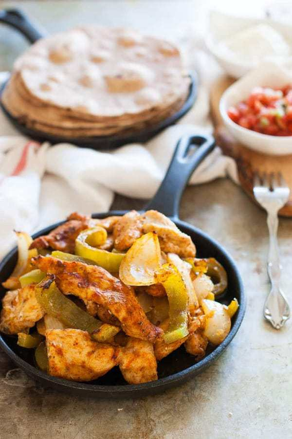 clean eating chicken fajitas