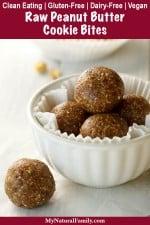 Clean Eating Raw Peanut Butter Bites Recipe (Copycat LaraBar Recipe) {Gluten-Free, Dairy-Free}
