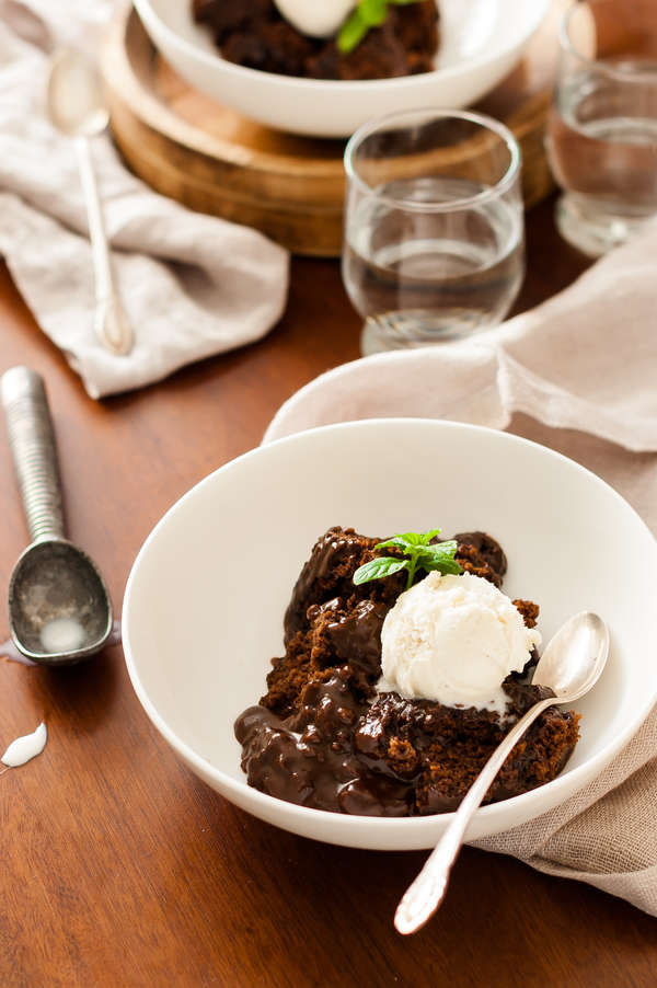 Clean Eating Slow Cooker Molten Lava Cake